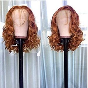 Orange Lace Front Wig with Baby Hair